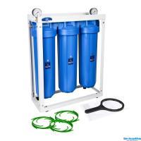 Комплект 3-х корпусов Aquafilter HHBB20B на стеллаже
