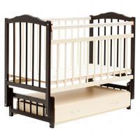 Детская кроватка Bambini 02 (темный орех/слоновая кость)