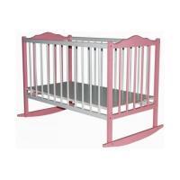Детская кроватка Bambini 01 (белый/розовый)