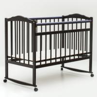 Детская кроватка Bambini 01 (темный орех)