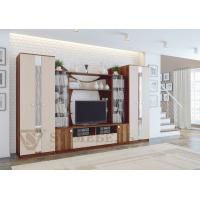 Пенал открытый SV-Мебеь слива валлис/дуб млечный (Гостиная Гамма 15)
