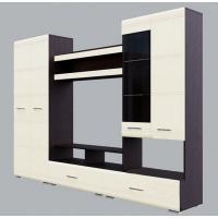 Центральная секция SV-Мебеь дуб венге/жемчуг (Модульная система №1)