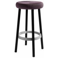 Стул барный уличный Cozy bar stool (Коузи Бар), фиолетовый