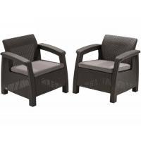 Комплект мебели Corfu Duo Set, коричневый