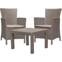 Набор уличной мебели (два кресла, столик) ROSARIO BALCONY CAPP +CUS SAND 008 STD капучино .