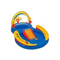 Надувной бассейн Intex Rainbow Ring Play Center 297x193x135 (57453)