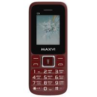 Мобильный телефон Maxvi C3i (винный красный)