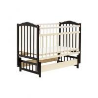 Классическая детская кроватка Bambini М.01.10.11 (темный орех/слоновая кость)