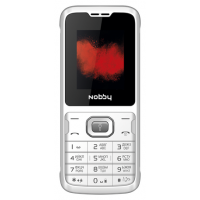 Мобильный телефон Nobby 110 (белый/серый)