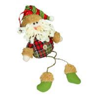 Мягкая игрушка Зимнее волшебство Дед Мороз клетчатая рубашка 35 см (красный)
