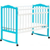 Классическая детская кроватка Bambini М.01.10.09 (белый/голубой)