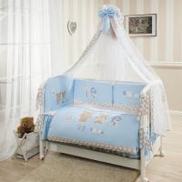 Постельное белье Perina Венеция Лапушки голубые В7-02.4 4 предмета