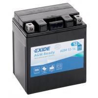 Мотоциклетный аккумулятор Exide AGM12-14 (12 А·ч)