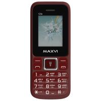 Мобильный телефон Maxvi C3n (винный красный)