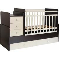 Детская кроватка Фея 1100 (венге/бежевый)