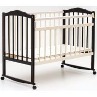 Классическая детская кроватка Bambini М.01.10.09 (темный орех/слоновая кость)