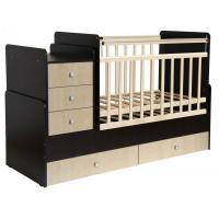 Детская кроватка Фея 1100 (венге/клен) [0001033.12]