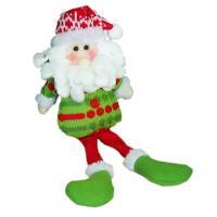 Мягкая игрушка Зимнее волшебство Дед Мороз в зелёной кофте 25 см (зеленый)