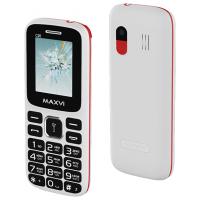 Мобильный телефон Maxvi C26 (белый/красный)