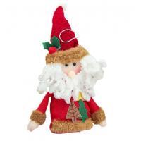 Мягкая игрушка Зимнее волшебство Дед Мороз Две елочки 14 см (красный)