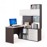 Компьютерный стол Сокол КСТ-14 правый (венге/беленый дуб)