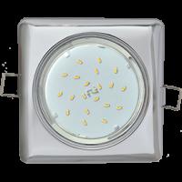 Ecola GX53 H4 Square светильник квадратный без рефл. Хром 107x41 10/50