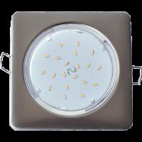 Ecola GX53 H4 Square светильник квадратный без рефл. Жемчуг 107x41 10/50