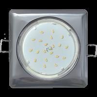 Ecola GX53 H4 Square светильник квадратный без рефл. Черный хром 107x41 10/50