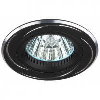 KL34 AL/BK Светильник ЭРА алюминиевый MR16,12V, 50W черный/хром (10/50/2400)
