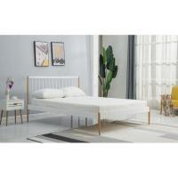 Кровать Halmar Lemi 120x200 (белый/дуб натуральный)