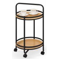 Сервировочный стол Halmar Bar-11 (дуб натуральный/черный)